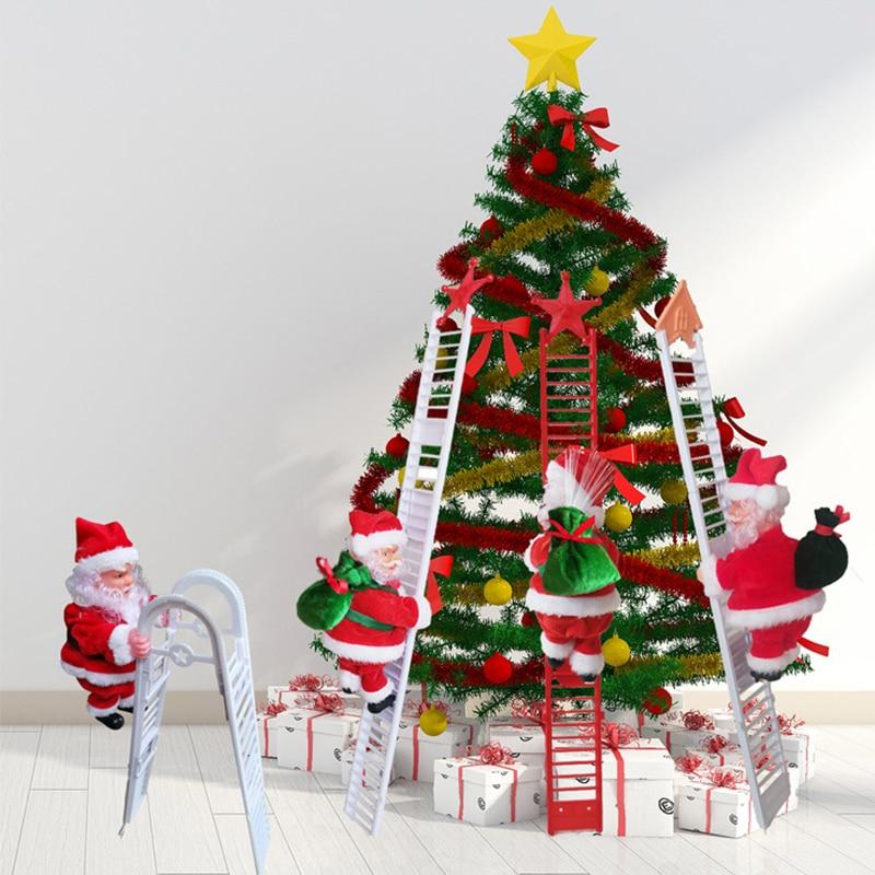 Albero Di Natale X Bambini.Natale Babbo Natale Elettrico Scaletta Salita Appeso Decorazione Albero Di Natale Ornamenti Di Festa Per Bambini Regali Di Natale Accessori Pendenti E Decorazioni Aliexpress