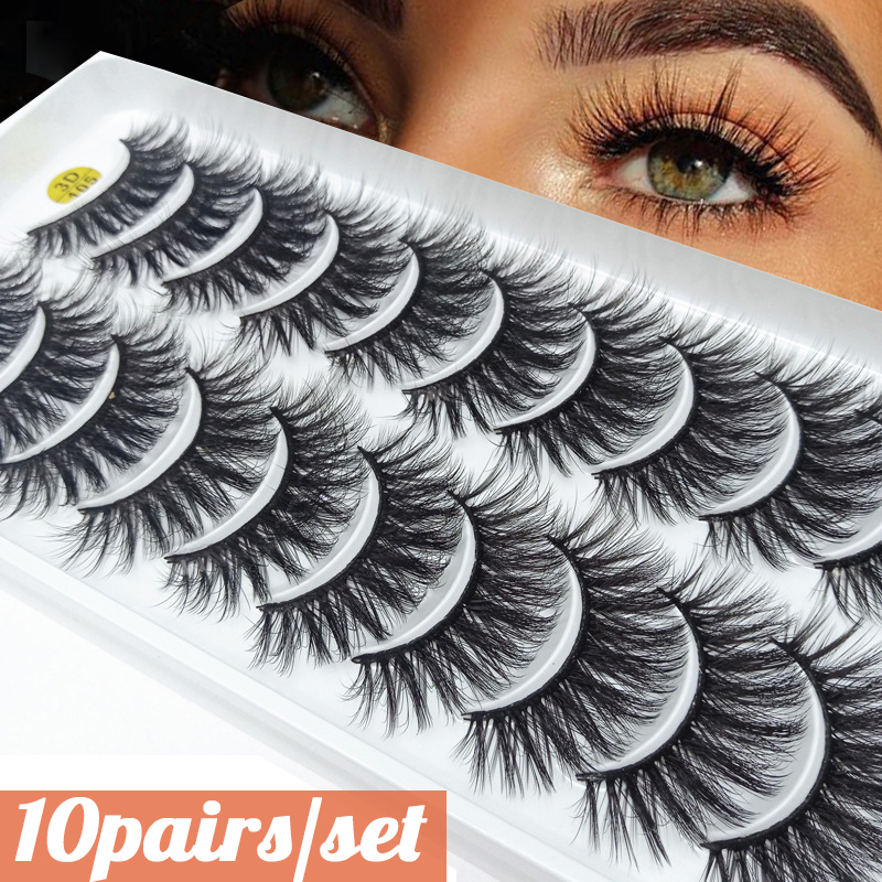 Eyelash Extension 3D Mink Lashes Natural False Eyelashes Soft Dramatic Volume Wispy Fake Eye Lashes Makeup Silk Eyelashes Tools