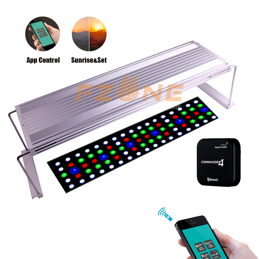 2019 New Chihiros WRGB  LED APP Version Aquairum Lighting Aquatic Plant Light With 4-Channel Magic Controller As Timer Sunrise