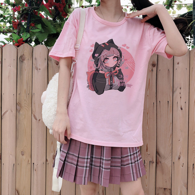 Cute Cat Anime Girl Shirt Anime Clothing Women's Clothing & Accessories Tops & Tees T-Shirts cb5feb1b7314637725a2e7: Aluminium|Gray|Harbor Gray|Lavender|Lucky bag|Pewter|Pink|Smoke|Storm Gray|Thunder|Violet|Westar|White