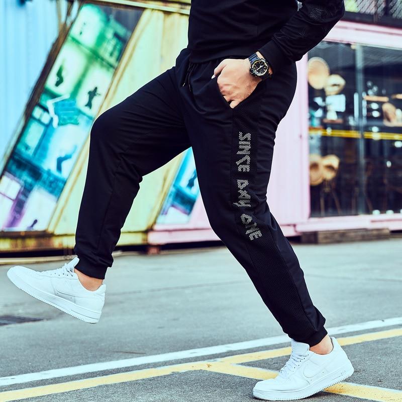 Plus-sized Large Size Athletic Pants Men's Casual Pants Loose Stylish Loose Wear Pants Spring And Autumn MEN'S Sweatpants Lard-b