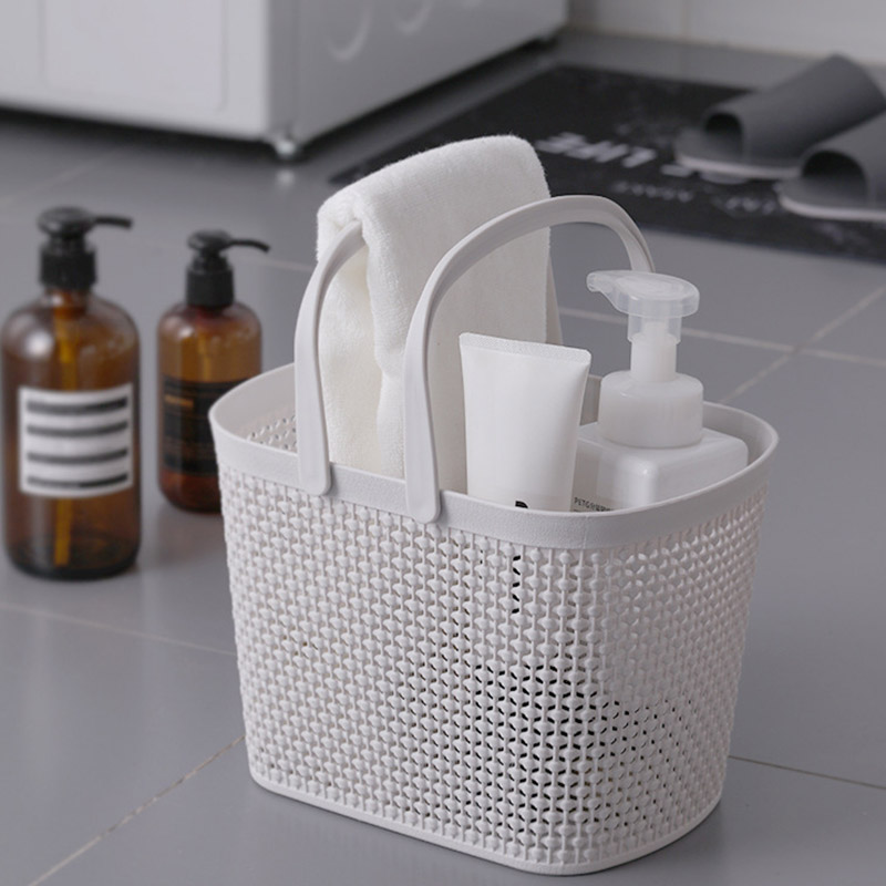 Portable Bath Laundry Basket Bathroom Toiletries Storage Basket Plastic Box Household Storage Basket Badmanden Cestini Da Bagno