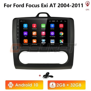 2G+32G Android 10 9 DAB+ DVD Radio Player for FORD TRANSIT FOCUS C-MAX S-MAX FIESTA GALAXY FUSION WiFi 4G Bluetooth Camera image