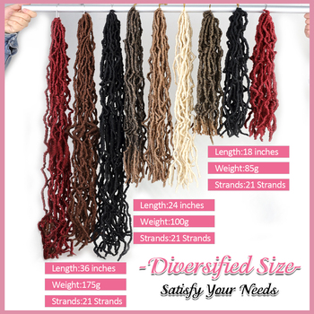 YunRong Nu Locs Crochet Hair 36 24 18 Inches Faux Locs Extension Synthetic Soft Goddess Braiding Dreadlocks Hair For Black Women 4