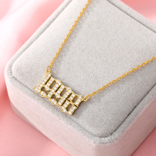 Women Year Number Necklace Crystal Zircon Digital Pendant 1985 To 2020 Birthday Gift Year Of Birth Gold Jewelry Chains Wholesale year of our birth