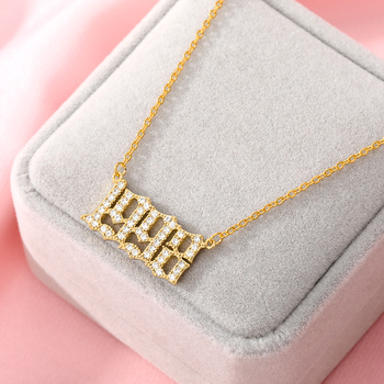Women Year Number Necklace Crystal Zircon Digital Pendant 1985 To 2020 Birthday Gift Year Of Birth Gold Jewelry Chains Wholesale Accessories Jewellery & Watches Women's Fashion