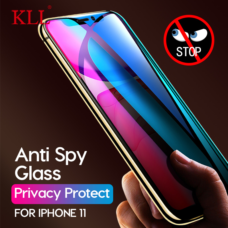 Anti Spy Full Cover Tempered Glass For IPhone 11 Pro XS Max X XR 9H Anti-Glare Privacy Screen Protector For IPhone 6 6s 7 8 Plus