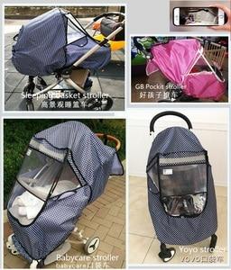 Image 2 - Baby Stroller Raincoat Cover Trolley Umbrella Pram Rain Cover Snow Windshield