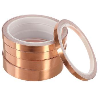 10m Waterproof Adhesive Tape Foil Tape Adhesive Conductive Copper Tape Anti-static Single-sided Repair Tape 6-20mm