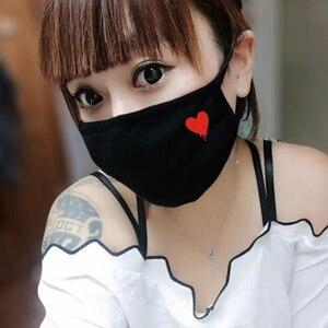 Image 5 - Schöne Schwarz ausdruck maske staubdicht sicherheit Baumwolle Masken sport laufschuhe cartoon Party maske Mode Unisex Halten Atemschutz