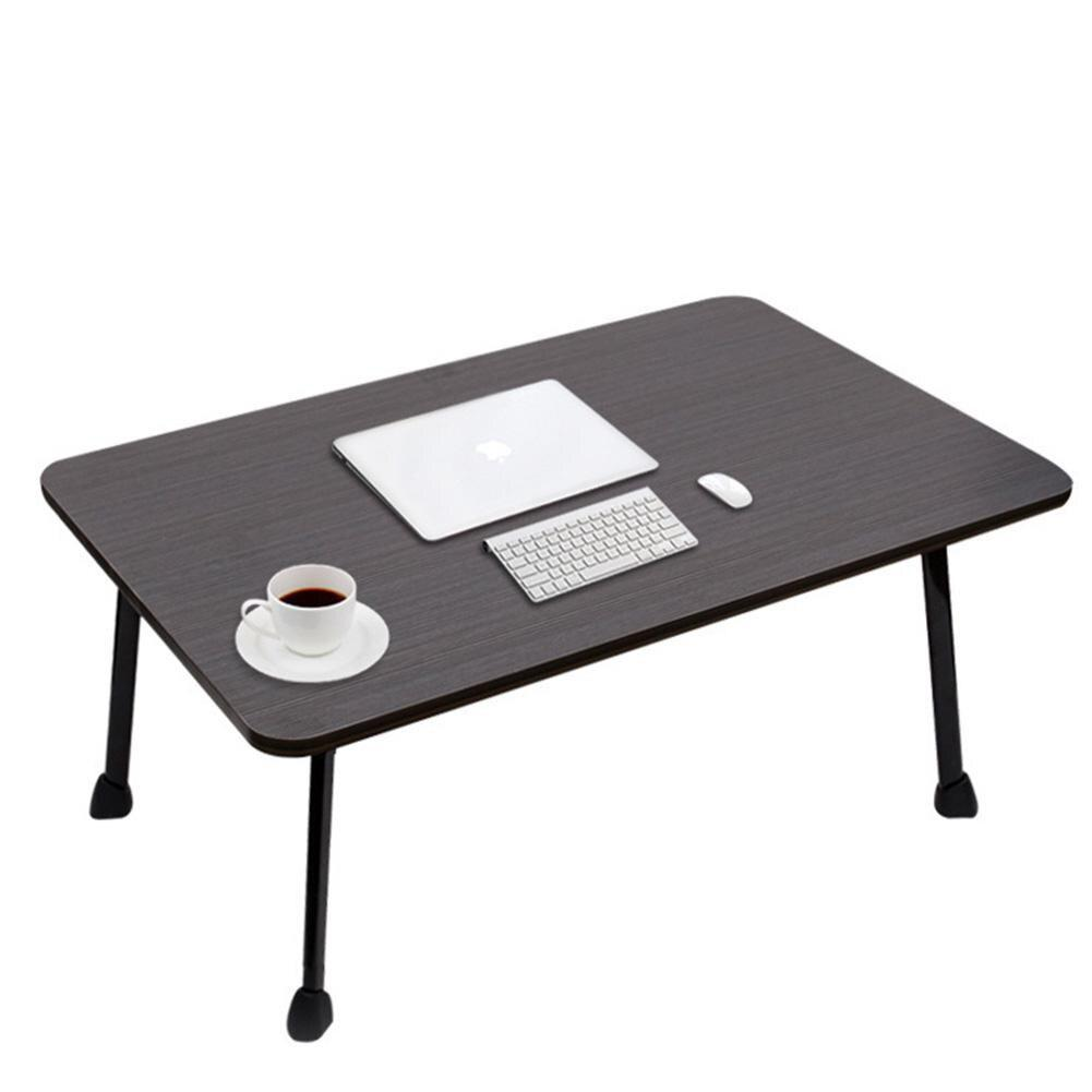 Bed Desk Small Folding Table Desk Multi Functional For Dormitory Laptop 60x40x28cm