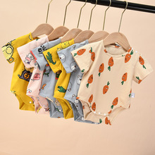 Newborn Baby Boys Girls Jumpsuit Clothes Thin Cotton Short-sleeved Toddler Rompers Infant Cartoon Bebe Kids Summer Clothing newborn baby baby boys girls summer clothes pure cotton go out rompers short sleeved jumpsuit baby boys climbing clothes pajamas