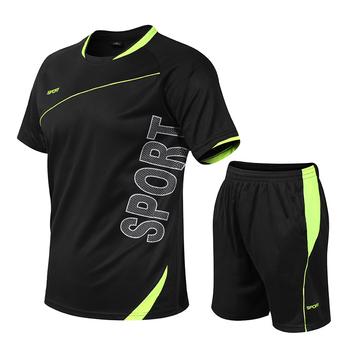 5XL męskie ubrania sportowe dresy elastyczne zestawy do biegania mężczyźni piłka nożna koszykówka tenis zestawy sportowe Fitness GYM Suits odzież do ćwiczeń tanie i dobre opinie XISHA Z okrągłym kołnierzykiem Pasuje na mniejsze stopy niezwykle Proszę sprawdzić informacje o rozmiarach ze sklepu
