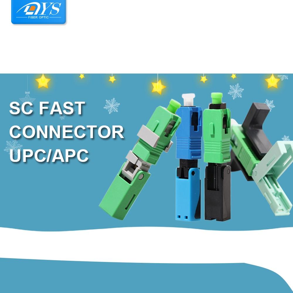FTTH SC APC Волоконно-оптический покрытый провод SC UPC быстрый соединитель FTTH волоконно-оптический Быстрый Соединитель SC встроенные соединители