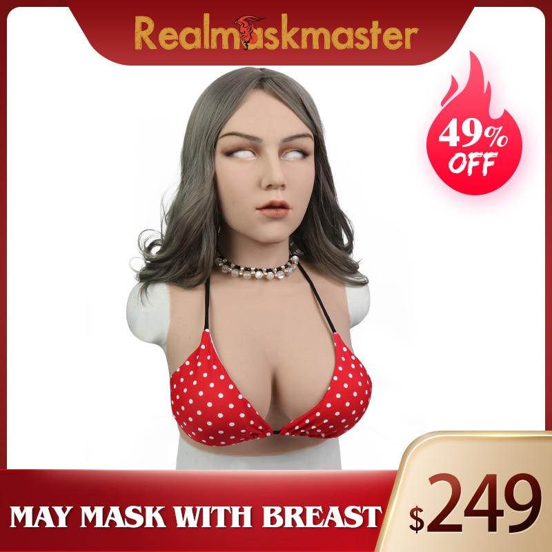 Roanyer May femelle masque réaliste en silicone sain médical doux utilisé pour crosscommode cosplay mascarade transexuelle glisser reine