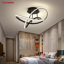Modern home led chandelier living room dining room bedroom study creative special shaped ceiling lamp black novel