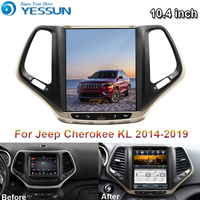For Jeep cherokee 2014~2019 Car Android Multimedia Player Car Radio GPS Navigation Big Screen Mirror Link Bluetooth WIFI