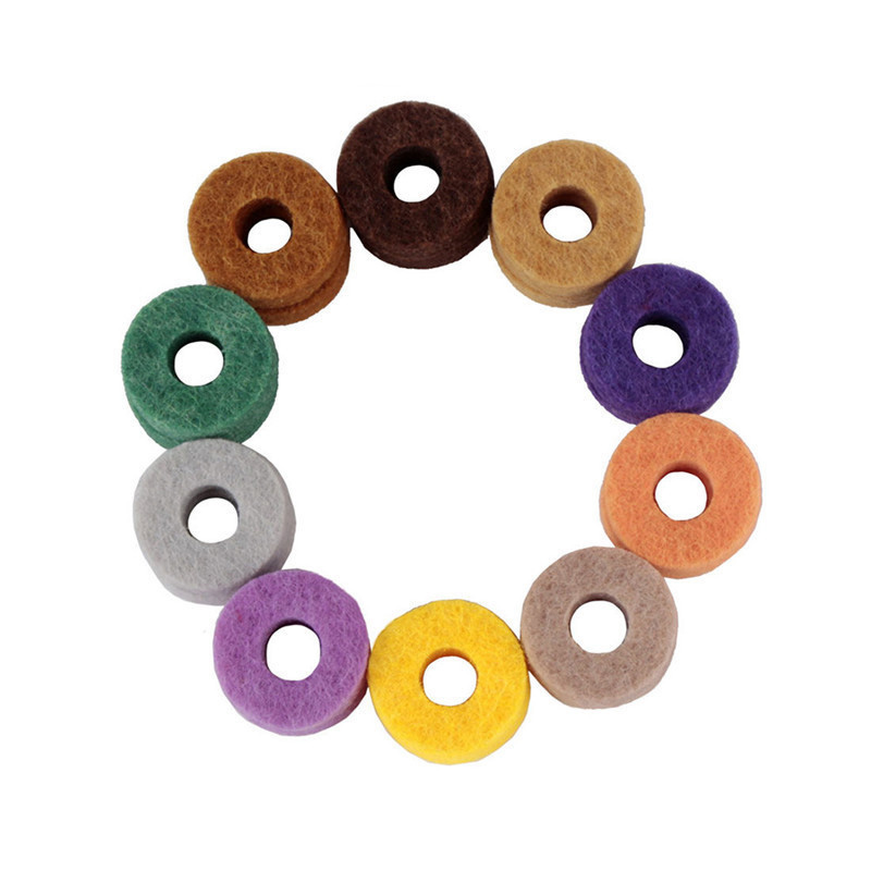 20pcs/ Pack High Quality Cymbal Stand Felt Washer Pad Replacement Round Soft For Drum Set Cymbals (Random Color Delivery)