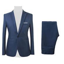 2Pcs/Set Men Blazer Formal Business Party Solid Color Long Sleeve Blazer Suit Pants Men Clothing мужские комплекты 2020