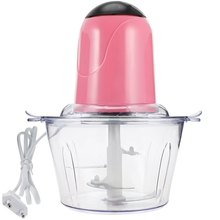 2L Electric Chopper Powerful Meat Grinder Stainless Steel Multifunctional Household Food Processor Meat Kitchen Blender-Eu Plug