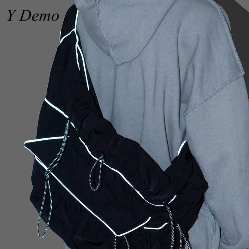 Harajuku Techwear Reflective Bag Women Big Size Chic Grunge One Shoulder Bag