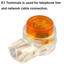 OULLX K1 K2 Terminals Rj45 Connector Crimp Connection Connector Waterproof Wiring Ethernet Cable Telephone Line Cord Terminals szgaoy 14071405 4 8mm cable wiring terminals w jackets silver 50 set
