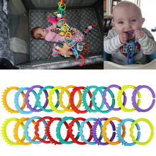Baby Love Interesting Colorful Baby Teething Ring Rainbow Ri
