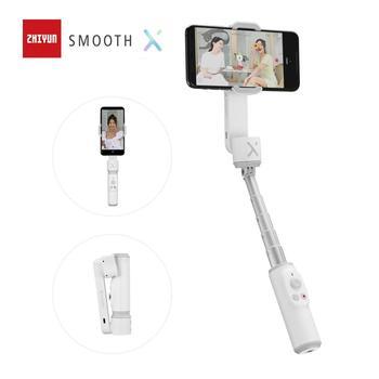 ZHIYUN SMOOTH X Palo de Selfie  oficial, Palo estabilizador de mano para teléfonos inteligentes iPhone, Huawei, Xiaomi, Redmi y Samsung