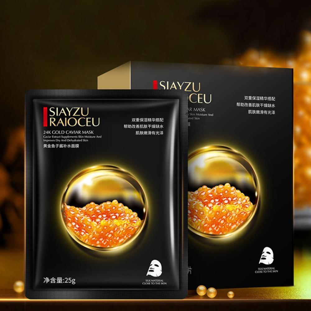 High Quality 10 Pcs Gold Caviar Hydrating Facial Mask Deep Moisturizing Easy to Absorb and Improve Skin Facial Care 1