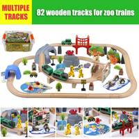 Children's Electric Wooden Rail Train Set Railcar Wooden Rail Train Railway Wooden Railway Electric Toy Train Give Kids Gift Toy