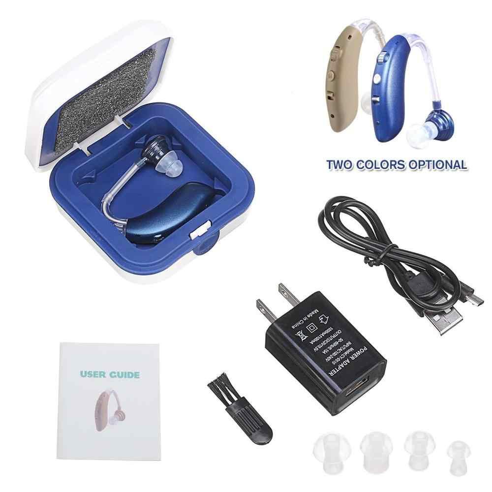 Bluetooth Digital Alat Bantu Dengar Isi Ulang Alat Bantu Dengar untuk Orang Tua Mendengar Jelas Telinga Amplifier Dibandingkan dengan Siemens Dropship