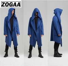 Men Trench Coat Mens Jacket Spring Autumn Trench Cardigan Punk korean Men Trench Coat Men Long Coat outwear Trench Coat Men cheap ZOGAA NONE Polyester Casual Solid Turn-down Collar Conventional Open Stitch Full REGULAR STANDARD Broadcloth