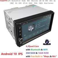 2G+16G Quad Core Android 10 car multimedia player gps navigation universal video 2 din car audio for nissan xtrail Qashqai juke