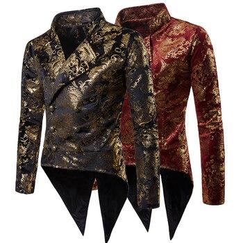2020 New Men's Palace Banquet Suit Coats Fashion Double-Breasted Men Tuxedo Suit Jacket European Size S-XXL Classic Blazers Male