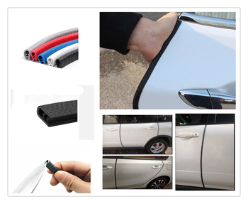 Universal 5m U-shaped weatherstrip door bumper decorative seal for BMW Z4 E85 E89 i8 and i3 E39 E61 E60 E63 F07 F10 F11 M5 image