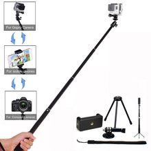 Kit Extendable Handheld Camera Phone Bracket Holder Tripod For GoPro YI Action Cameras For iphone For samsung(China)