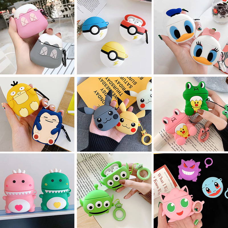 Anime Cartoon Cute Earphone Case For Apple Airpods 1 2 Silicone Soft Skin Charging Box For Airpods Accessories Protective Cover