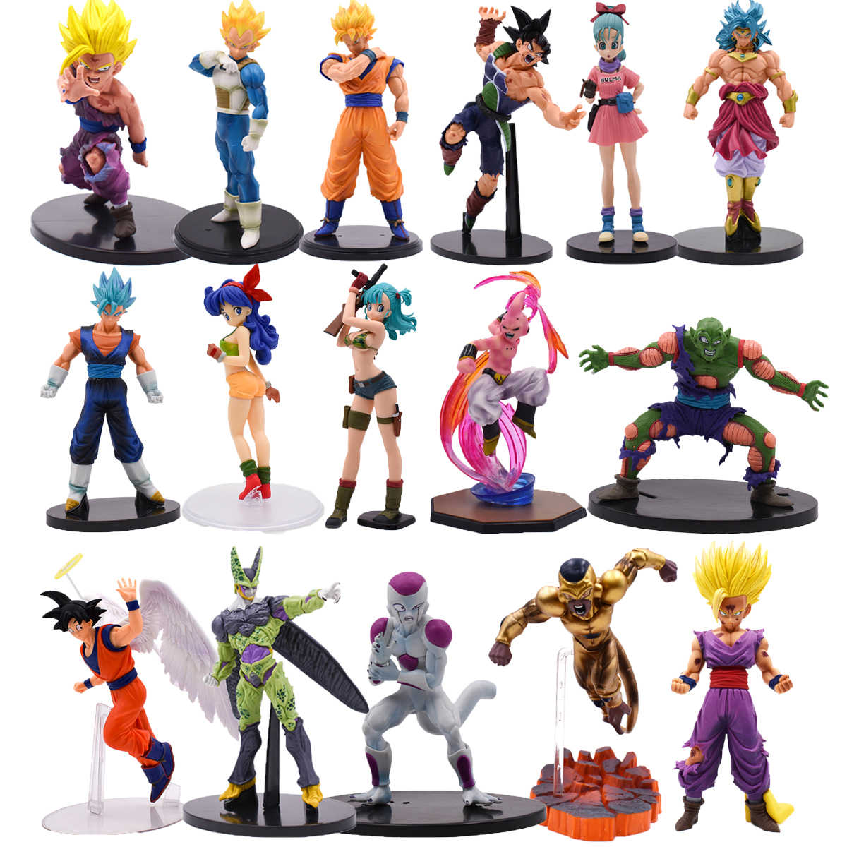 Anime Brinquedos Super Saiyan Son Goku Gohan Vegeta Klit Buruma Frieza Broli Cellfigure Dragon Ball Z Pvc Action Figures Speelgoed