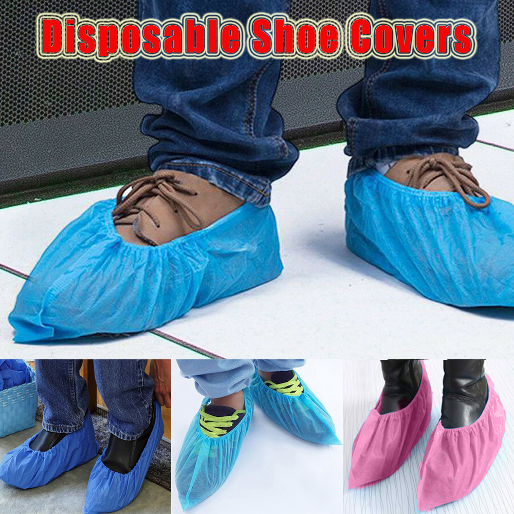 Non-slip Disposable Shoe Covers Thickening Durable Oil Proof Waterproof Shoes Cover For Boot Home Living Protective Prepper D35