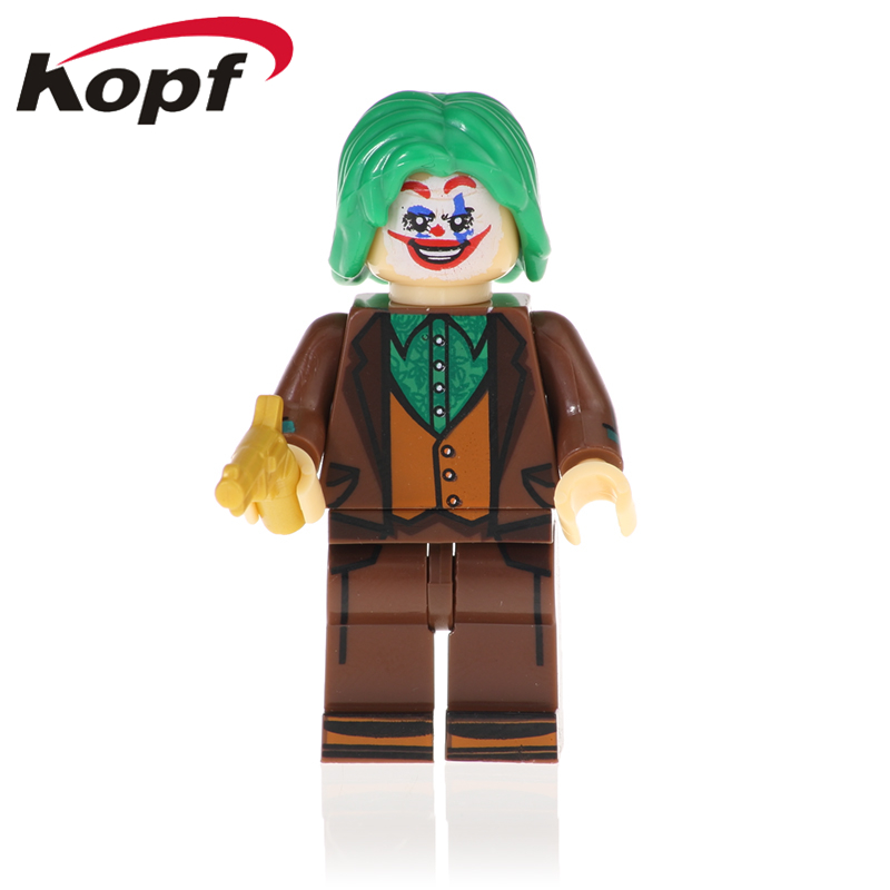 Plastic Marvel Avengers Super Heroes Joker Poison Lvy Penguin Building Blocks Action Figures Bricks Toys For Children XH 1020