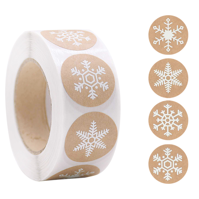 500pcs Merry Christmas Stickers Christmas Tree Elk Candy Bag Sealing Sticker Christmas Gifts Box Labels Decorations New Year 3