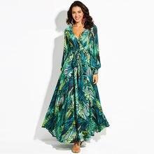 Лето 2020 новое платье с цветочным принтом длинное в стиле бохо