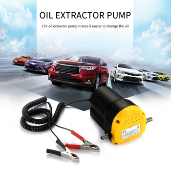 Electric Professional Oil Pump Professional Electric Oil Pump Scavenge Suction Transfer Pump 12V Motor Oil Diesel Extractor electric 12v oil pump 45w car electric oil diesel fuel extractor transfer pump with crocodie clip professional