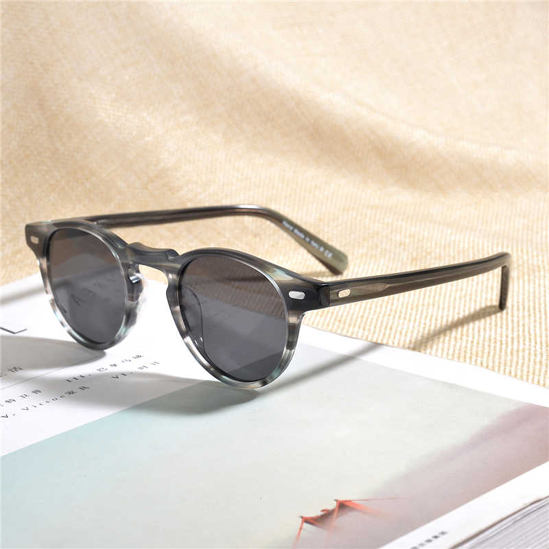 Oliver Gregory Peck  Vintage Clear Sunglasses Designer men women Sunglass OV5186 Polarized sun glass OV 5186 with Original case