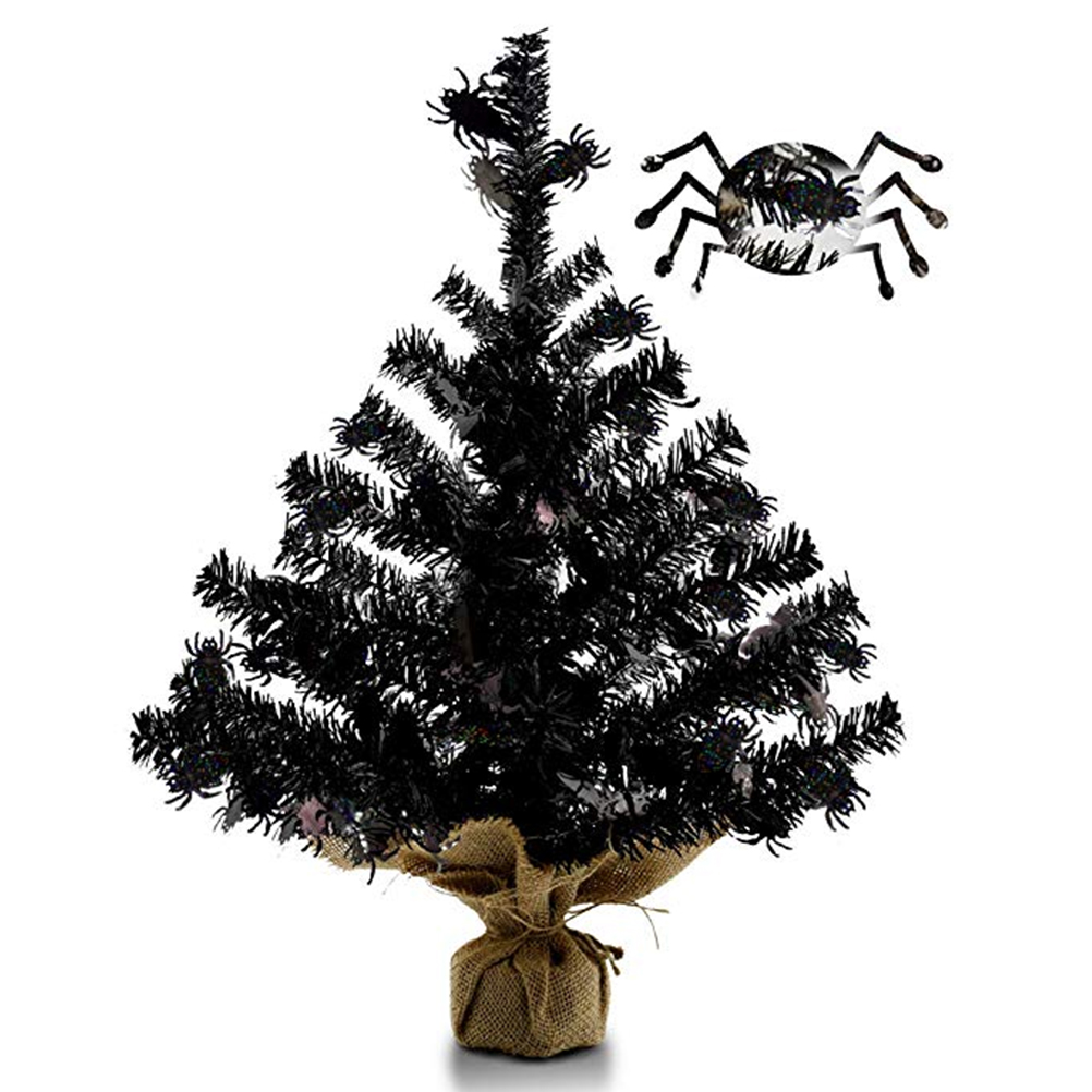 US $11 28 OFF 40cm Halloween Tree Small Tabletop Tree Mini Fake Branches Tree With Burlap Wrapped Base For Wedding Desk Decorations Trees