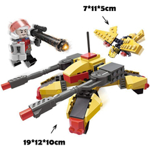 GUDI 8222 148pcs Earth Border Extreme Snipe Military Tank Spy Plane Building Blocks Kids DIY Bricks Legoingly Toy for Children