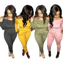 Сплошной цвет большой размер женские повседневные костюмы из