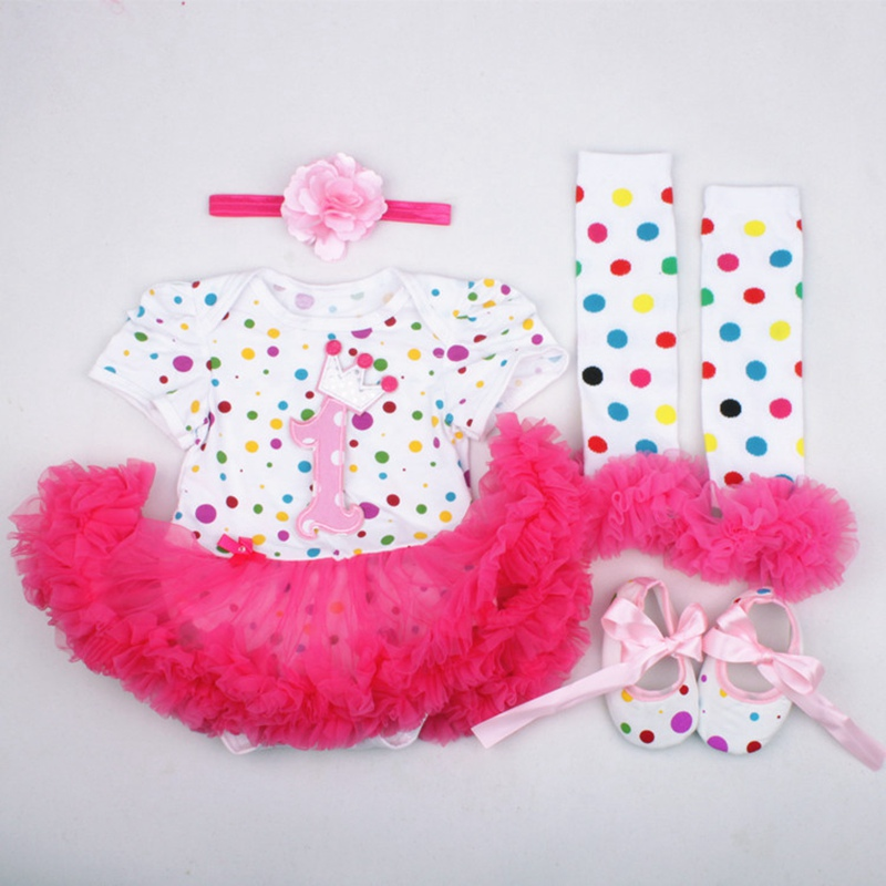 1st Birthday Dress Baby Girl Birthday Gowns Cake Tutu Dress Outfits 12 Months Toddler First Infant Clothes Headband Set