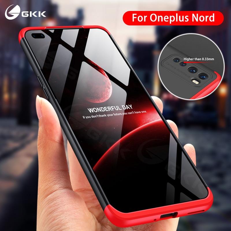 GKK-funda para Oneplus Nord, protección de cuerpo completo 3 en 1, diseño mate, tapa dura del teléfono, funda para Oneplus Nord