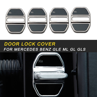 Car Door Lock Protective Cover Trim Sticker Frame Chrome Accessories For Mercedes Benz GLE ML GL GLS Auto